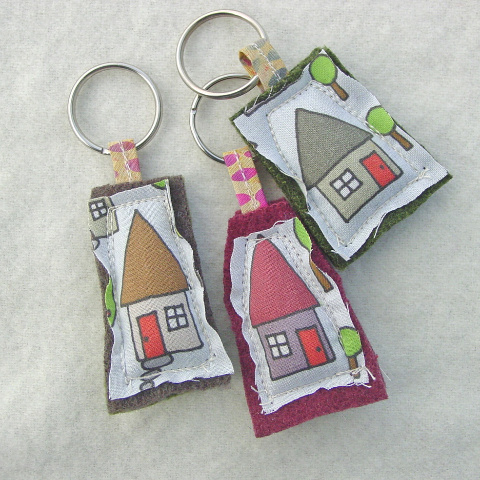 Plush Keychains - Spoonflower Fabric - House Keyrings - Wholesale Bulk  Listing - Ten For 30 fb20d5e99ee1